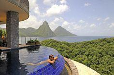 Jade Mountain Luxury Resort in St. Lucia......Omgosh too perfect!!