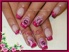 Hot Pink French by RadiD - Nail Art Gallery nailartgallery.nailsmag.com by Nails Magazine www.nailsmag.com #nailart