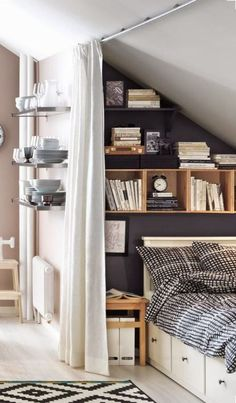 cozy-little-attic-bedroom-suitable-for-a-teenager.jpg cozy-little-attic-bedroom-suitable-for-a-teenager.jpg Source by epricewright The post cozy-little-attic-bedroom-suitable-for-a-teenager.jpg appeared first on Susannah Kenny Interiors. Deco Design, Design Case, Deco Studio, Sweet Home, Small Bedroom Designs, Small Bedrooms, Small Bedroom Decor On A Budget, Beds For Small Rooms, Budget Bedroom