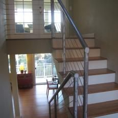 Loft Stairs with Metal Railing