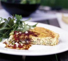 Crab & ginger tart with a chilli dressing