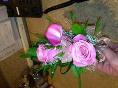 Calla lily and rose wrist corsage