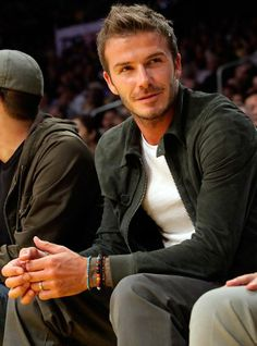 "David Beckham #mensfashion #mensjewellery www.urban-male.com , HE'S ALSO ""I FEEL GLAD TO BE GOOD LOOK ( THE USE WORD HANDSOME ) & I LOVE FOOTBALL (VERY MUCH / MORE THAN WIFE & ALL {?! )"