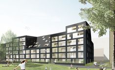 Image result for glazed brick apartments