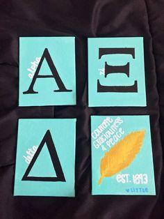 Alpha Xi Delta canvas (idea for coasters)