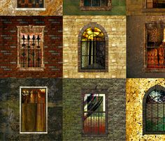 City_Windows_3_Version_5_ fabric by lulutigs on Spoonflower - custom fabric