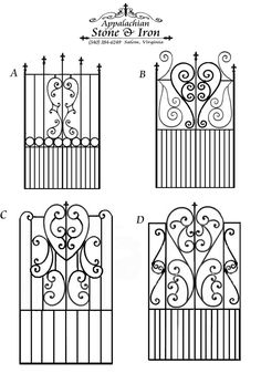 Appalachian Stone and Iron Metal Gates, Wrought Iron Gates, Iron Furniture, Iron Art, Metal Projects, Iron Doors, Gate Design, Blacksmithing, Metal Art