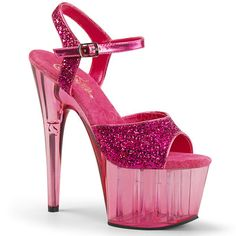 9c06f10ab5c Pleaser ADORE-710GT H. Pink Glitter B. Pink Tinted ◈ Seductive Shoes