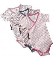 Organic Girls' Bodysuits 3-Pack, 3-6 Months - Bodysuit - Layette