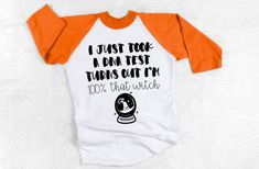 Excited to share this item from my shop: I just took a DNA test turns out I'm that witch raglan - Halloween shirts - funny t shirt sayings - funny t shirt - t-shirt with saying Funny T Shirt Sayings, Funny Tee Shirts, T Shirts With Sayings, Mom Shirts, Dna Test, Halloween Shirt, Mom Humor, Witch, Trending Outfits