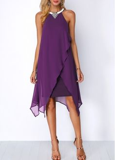 Elegant Chiffon O-Neck Sleeveless Fashion Party Dresses Women's Fashion Dresses, Sexy Dresses, Casual Dresses, Fall Dresses, Long Dresses, Cheap Dresses, Beautiful Dresses, Prom Dresses, Formal Dresses