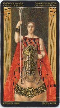 Knight of Wands from the Golden Tarot of Klimt