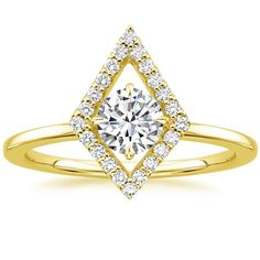 Lucy Diamond Engagement Ring - 18K Yellow Gold