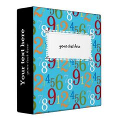 Sold #numbers #pattern #school #teacher #binder Available in different products. Check more at www.zazzle.com/celebrationideas