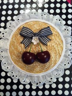 Cherry Fascinator VLV Pinup Rockabilly by BadSeeds on Etsy, $22.00