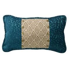 Delectably Yours Alamosa Ikat & Teal Leopard Chenille Pillow by HiEnd Accents