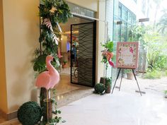 Vivienne's Tropical Pink Flamingo Themed Party – Birthday Flamingo Birthday, 8th Birthday, 1st Birthday Parties, Warm Colors, Pastel Colors, Different Shades Of Pink, Painted Leaves, Tropical Vibes, Paper Lanterns