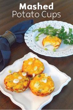 Mashed Potato Cups feature tasty bits of crispy, crumbled bacon and melted cheesy goodness for a kid-friendly dinner side that will pair with any meat entree. Simply throw all the ingredients together, bake to perfection, and watch little hands devour this mushy potato side in minutes.