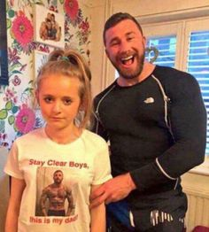 His daughters t-shirt. haha. Funny Pictures of the Day (37 Pics)