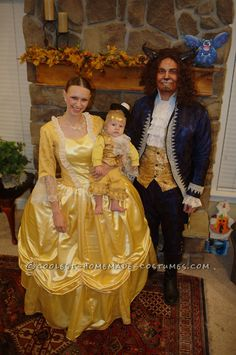 Beauty and the Beast with Baby Lumiere Family Costume... This website is the Pinterest of costumes