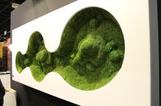 Interactive Urban Furniture on Student Show Stand Design, Booth Design, Wall Design, Moss Wall Art, Moss Art, Plant Wall, Plant Decor, Vertikal Garden, Fleur Design