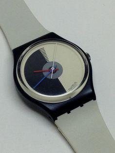 Vintage Swatch Watch Mezza Luna GB107 1986 by ThatIsSoFunny