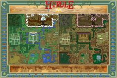 HYRULE MAP ART COLLECTION ILLUSTRATES LINK'S JOURNEY PERFECTLY