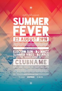 Summer Fever Flyer Template (Buy PSD file $9)                                                                                                                                                                                 More