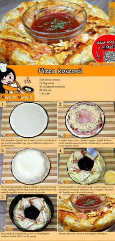 Pizza-Kranz Rezept mit Video - Pizza selber machen/schnelle Rezepte Probiert am Wochenende unser Pizza-Kranz Rezept mit Video! Tasty, Yummy Food, Cooking Recipes, Healthy Recipes, Dessert Drinks, Dinner Recipes For Kids, Winter Food, Deep Dish, Food Videos