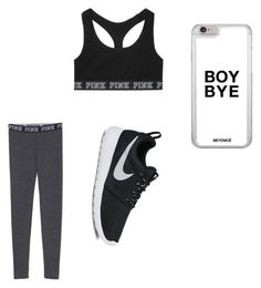 """Sporty⚽️"" by love-emilyyyy on Polyvore featuring Victoria's Secret and NIKE"