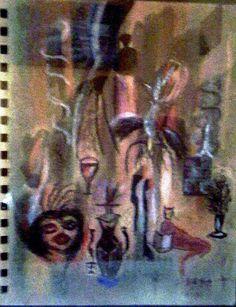 Título: La Gata Roja  Técnica: Mixta...dibujo  Formato: 30 x 40  Autora: La Gata Roja  disponible  Informes: rosaeliasmass@yahoo.com.mx