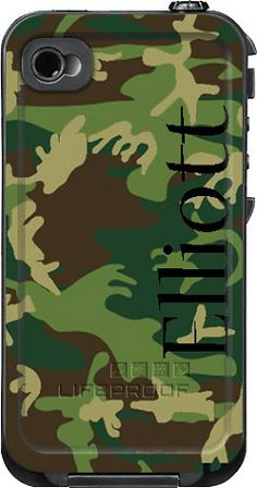 Camo Monogrammed LifeProof Cases | Camo Personalized LifeProof Case