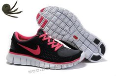 Popular Black Pink Nike Free Run Womens Running Shoes Online