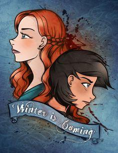 Winter is coming! Sansa and Arya - #GoT @brattyduck @bearnaked67 @markcasino