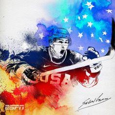 USA Hockey Color Drawing