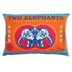 Koko Company Rice Elephant Pillow