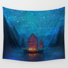 Our Secret Harbor Wall Tapestry