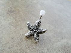 Starfish Belly Button Ring Jewelry by CuteBellyRings on Etsy, $15.00