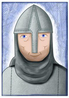 'Knight' By Zoe Shelton Illustration