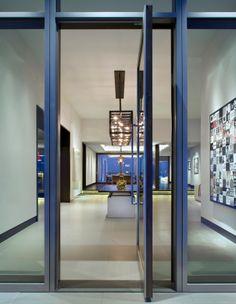 Luxury Aluminum Clad Pivot Door House Entrance Doors Front Windows