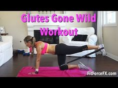 Glutes Gone Wild: Resistance Band Leg & Booty Workout - Fitness - Thera Band Band Workouts, At Home Workouts, Workout Tips, Body Fitness, Fitness Tips, Fitness Band, Daisy Duke Workout, Biceps Workout, Workout Body