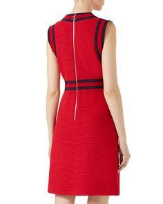B3XNC Gucci Light Tweed with Web Detail Dress