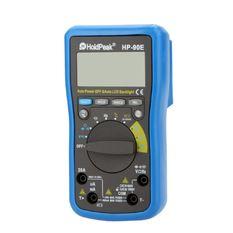 HoldPeak HP-90E Auto Range Digital Multimeter DMM Cap.HZ Temperature Meter Battery Tester w/Auto LCD Backlight