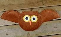 Eule oder Fledermaus basteln Pappteller