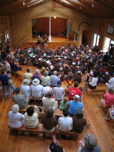 Camp Trillium, OuR Island- Inside Activity Hall during Open House
