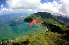 over Kahana, Hawaii. Photo: Bill Hockensmith