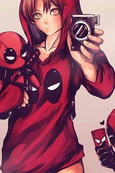 A Deadpool ya le anda por acosar :v Deadpool Und Spiderman, All Spiderman, Deadpool Love, Deadpool Funny, Marvel Heroes, Marvel Dc Comics, Chibi, Star Wars Girls, Spider Man