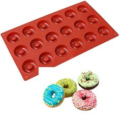 Allforhome(TM) 18 Savarin Donut Silicone Cake Baking Mold Cake Pan Biscuit Cookie doughnut DIY Molds *** Check out this great image : Bakeware Sets Cooking Games For Kids, Cooking For A Group, New Cooking, Cooking Light, How To Cook Brats, How To Cook Steak, Cooking Tuna Steaks, Cooking Meme, Stove Top Oven