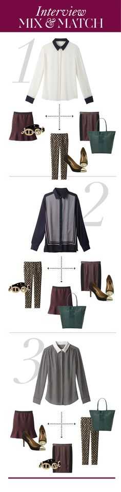 Dressing for an Interview: 5 Pieces to Mix and Match