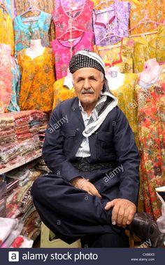 Kurdish Shopkeeper in traditional Attire at Qaysari Bazar in Erbîl.